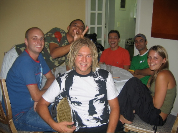 Happier times at my apartment - Danny's birthday!