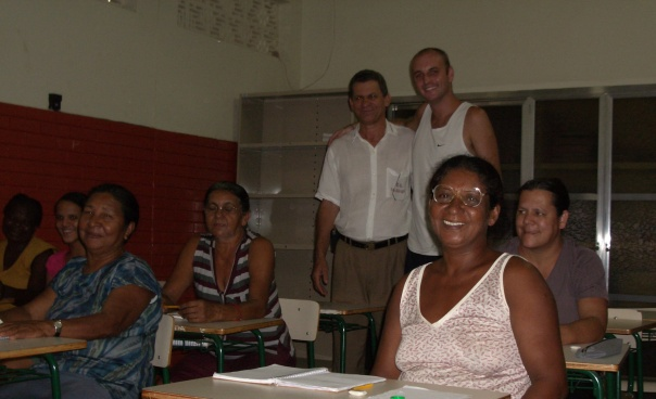 Paulinho's night school where he teaches English