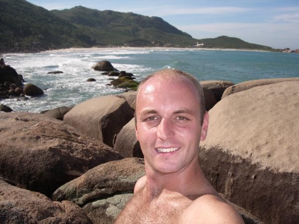 Just before my streak at Praia das Galhetas
