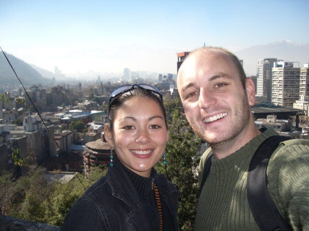 Me and fellow Bellavistian, Ansa, chilling out in Santiago