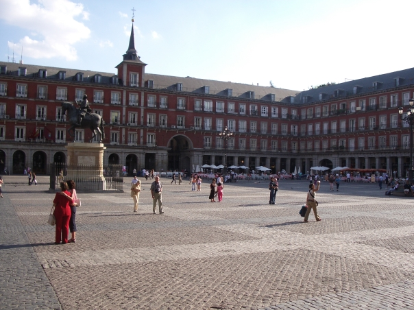 The sleepy Plaza Mayor during the day - in the evenings it was a different story