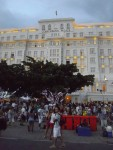 The opulent Copacabana Palace, where the main action happens
